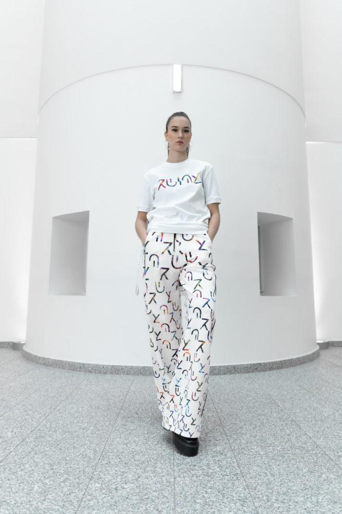 t shirt classique unisexe coton bio garnd logo imprimé couleur